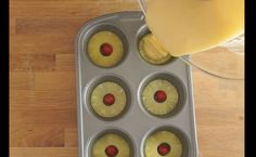 Watch as we share a really simple way to make pineapple upside down cake using a muffin tray for delicious and easy to serve individual desserts. Pineapple Slices, Pineapple Upside Down Cake, Individual Desserts, Fun Desserts, Dessert Recipes, Muffin Tin Recipes, Baking Recipes, Crepe Recipes, Sweets