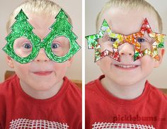Free Printable: Christmas Glasses! I love these smiling eyes!! Oh! to be little again!