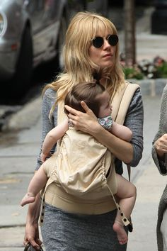 Sienna Miller and her daughter.