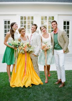 Bright, fun colors! http://www.stylemepretty.com/2015/07/14/authentic-colorful-cuban-wedding-inspiration/ | Photography: Jose Villa - http://josevilla.com/