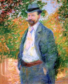 Portrait of William H. Hurt, Giverny, 1897 - Theodore Earl Butler