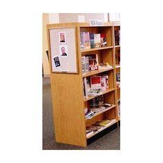 "W.C. Heller Double Face Shelf 72"" Standard Bookcase Finish: Natural, Size: 72"" H x 38"" W x 16"" D"