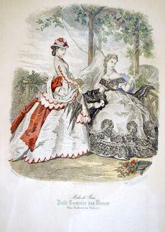 Mode de Paris Petit Courrier des Dames, 1864