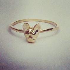 Hi I'm Tiny French Ring pictured in Gold Brass. Also available in Sterling Silver