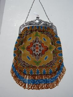 Another recent acquisition - a Southwester beaded bag in mint condition.