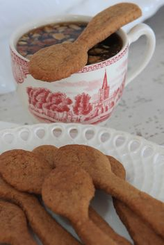 Sjarmerende jul: Spiselig skje ~ Gingerbread Cookies as Coffee Spoons ~ Pure Bliss <3