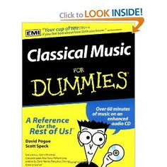 Classical Music for Dummies - by our very own Scott Speck (Mobile Symphony) and David Progue