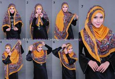 I never thought of wearing a square hijab this way.