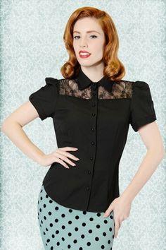 Collectif Clothing Amanda Blouse Black 13663 1