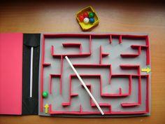 Fun Ways To Repurpose Cardboard For Kids---Build a Cardboard Box Marble Labyrinth Preschool Learning Activities, Toddler Activities, Preschool Activities, Kids Learning, Summer Crafts For Kids, Projects For Kids, Art For Kids, Craft Stick Crafts, Fun Crafts