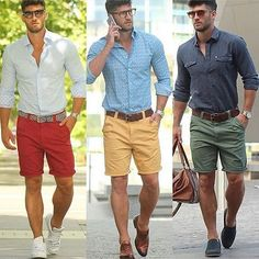 Summer Shorts Outfits, Casual Summer Outfits, Mode Masculine, Fashion Pants, Mens Fashion, Men Dress Up, Mens Style Guide, Style Men, Swagg