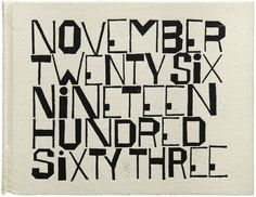 The 2014 Letterform Archive Calendar: Historical Work, New Type