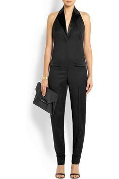 Givenchy Halterneck jumpsuit in black wool-crepe NET-A-PORTER.COM