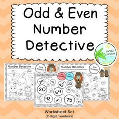 Odd and Even Number worksheets page pack: numbers) 100 Number Chart, Number Worksheets, Cut And Paste, Color Activities, Year 2, Teacher Pay Teachers, Teacher Newsletter, Maths, Numbers