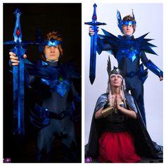 Saint Seiya Asgard Odin Seiya and Polaris Hilda cosplay.