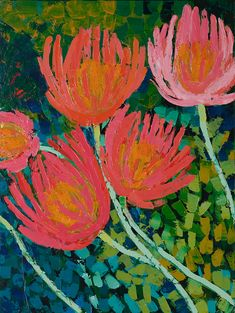 Anna Blatman, Artist - My Gallery - 36 Art Works - Shop Australian Art, Arte Floral, Pastel Art, Abstract Flowers, Art Plastique, Acrylic Art, Painting Inspiration, Flower Art, Painting & Drawing