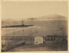 San Francisco, 1856. Photo by unknown. Alcatraz Island.