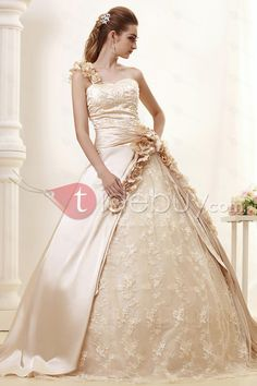 Elegant One-shoulder Ball Gown Royal Angerlika's Wedding Dress