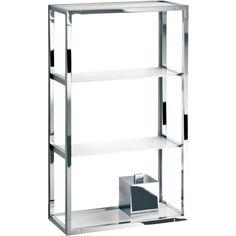 DWBA 3 Tier Wall Mounted Bathroom Rack Frosted Glass Organizer Shelf - Brass