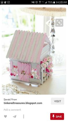 Popsicle stick sweet shabby chic house
