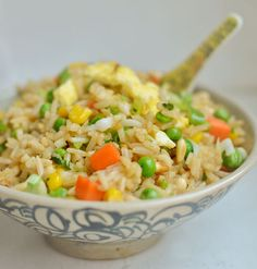 How to Stir fry rice