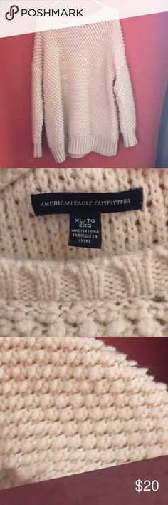 American Eagle Sweater It is a textured sweater Only worn twice It is oversized! So it will be baggy  It is comfortable American Eagle Outfitters Sweaters