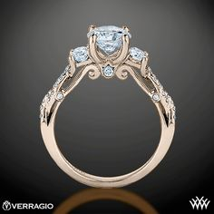 Princess ring! Verragio Insignia ring in rose gold.