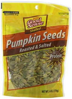 Good Sense Roasted and Salted Pumpkin Seeds, Shelled, 6-Ounce Bags (Pack of 5) * Haven't you heard that you can find more discounts at this image link : baking desserts recipes