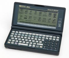 HP Hewlett Packard 200LX Palmtop PC Computer.  Ran MS-DOS and Lotus-123 from ROM.  Had wonderful battery life, as did all HP portables and calculators. Still use it today! Sad HP isn't the same...
