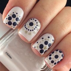 Polka Dot Nail Art Design for Eid. Polka Dot Nail Art Designs can be threatening initially, but with the correct directions and wonderful designs. Dot Nail Art, Polka Dot Nails, Nail Art Diy, Easy Nail Art, Diy Nails, Cute Nails, Pretty Nails, Polka Dots, Nail Art Dotting Tool