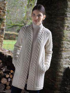 Women's Long Coat - Natural
