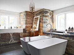 Home spa with his and hers soaking tubs Home Interior, Modern Interior, Interior Design, Double Bathtub, Home Spa, Clawfoot Bathtub, Bath Tub, Beautiful Bathrooms, Art Nouveau