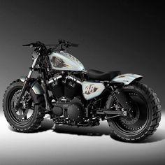 Harley Davidson Sportster 48 #motorcycle #motorbike #harleydavidsoncustombobber
