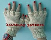 Knitting Pattern PDF Fingerless Gloves for Men and by EmptyKnits