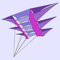 Kluiver by Vlieger Magazin, a plan for 1 line kite hosted at the bowed category of the KPB Kite Designs, Kite Surf, Kite Making, Paper Plane, Draco, Surfing, Paper Crafts, How To Plan, Black Smith