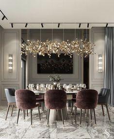 Dining Room Sets, Luxury Dining Room, Dining Room Design, Luxury Living, Dining Table, Modern House Design, Home Design, Design Ideas, Design Homes