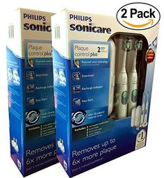 Special Offers - Philips Sonicare Plaque Control Plus Rechargeable Toothbrush 2-Pack HX6254/81 (Pack of 2 (2 ct ea)) - In stock & Free Shipping. You can save more money! Check It (May 28 2016 at 06:41PM) >> http://electricrazorusa.net/philips-sonicare-plaque-control-plus-rechargeable-toothbrush-2-pack-hx625481-pack-of-2-2-ct-ea/