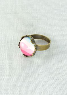 Vintage Style Pastel Color Ring #happinessbtq