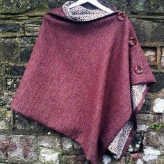 Our Skye Wrap is an easy and stylish cover up, great over a jp and jeans. Make in your favourite tweed, line with something pretty and go