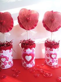 "Homespun With Love: ""Can of Hearts"" Valentine's Centerpiece"