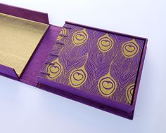 make a clamshell box for your print collection or book -completed box