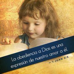 1 Juan 2:5 pero el que guarda su palabra, en éste verdaderamente el amor de Dios se ha perfeccionado; por esto sabemos que estamos en él.♔