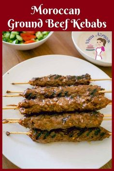 Beef Shish Kabob, Beef Kabob Recipes, Beef Skewers, Ground Beef Recipes, Appetizer Recipes, Cooking Recipes, Ground Beef Kabob Recipe, Grilling Recipes, Kebab Meat