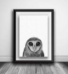 Owl Print Wilderness Wall Art Woodlands by AnnasDigitalArtDeco Owl Nursery, Animal Nursery, Nursery Prints, Bear Print, Owl Print, Woodland Decor, Woodland Nursery, Printable Art, Wilderness