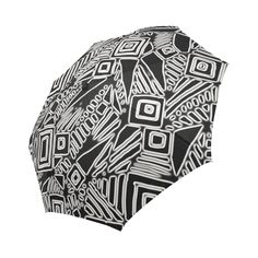 Optical Illusion, Black and White Art Auto-Foldable Umbrella (Model White Art, Black And White, Optical Illusions, Model, Blanco Y Negro, Black White, Black N White, Scale Model
