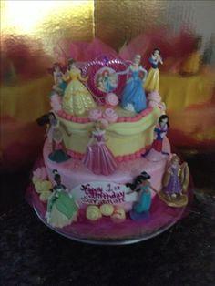 """""""Disney Princesses"""" Birthday Cake - Bittersweet Bake Shoppe - Tyngsboro, Massachusetts"""