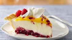 Double Lemon Raspberry Swirl Pie!
