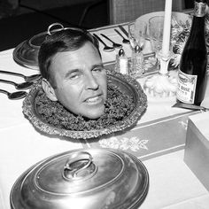 "Paul Lynde as 'Uncle Arthur' on the set of ""Bewitched"", (1965)"