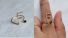 Diy wire initial ring/wire alphabet F Ring making/how to make wire initial F /handmade ring - YouTube Diy Wire Initial Rings, Handmade Jewelry Tutorials, Ring Making, How To Make Rings, Wire Wrapped Rings, Wire Wrapping, Initials, Alphabet, Youtube