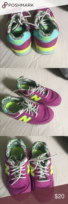 Little Girls New Balance Shoes New Balance Shoes from Nordstrom! Vibrant colors with a cool design. Super easy to clean material! And super comfy for your child. Worn once on our vacation in NY. New Balance Shoes Sneakers